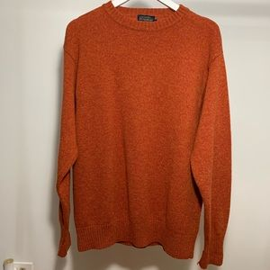 Rust Orange Wool Pendleton Sweater XL
